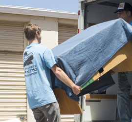 Get professional unloading help for your rental truck or portable storage unit.